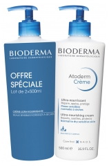 Bioderma Atoderm Ultra Nourishing Cream 2 x 500ml
