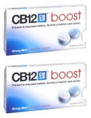 CB12 Boost Strong Mint Lot de 2 x 10 Gommes à Mâcher