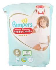 Pampers Premium Protection Nappy Pants 16 Couches-Culottes Taille 6 (15 kg et +)