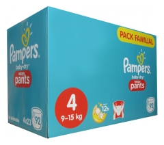 Pampers Baby-Dry Nappy Pants 92 Couches-Culottes Taille 4 (9-15 kg)
