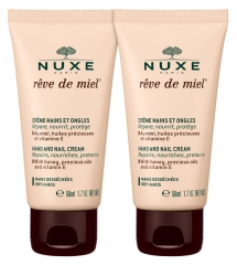 Nuxe Rêve de Miel Hand and Nail Cream 2 x 50ml