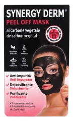 Incarose Synergy Derm Peel Off Mask with Vegetable Charcoal 4 x 7g