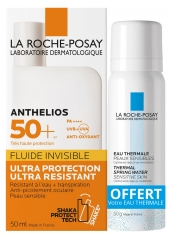 La Roche-Posay Anthelios Shaka Invisible Fluid SPF 50+ 50ml + Thermal Spring Water 50ml Offered