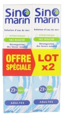 Sinomarin Solution d'Eau de Mer Nez Bouché Adultes Lot de 2 x 125 ml
