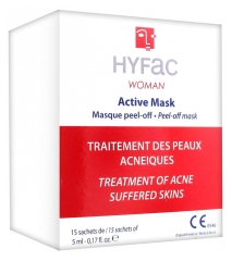 Hyfac Woman Active Mask Masque Peel-Off 15 Sachets