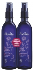 Melvita Organic Damask Rose Floral Water Spray 2 x 200 ml