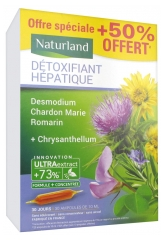 Naturland Hepatic Detoxifier 20 Drinkable Phials of 10ml + 10 Phials Offered