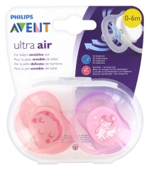 Avent 2 Sucettes Ultra Air 0-6 Mois