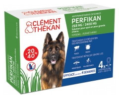Clément Thékan Perfikan 268mg/2400mg Large Dogs 4 Pipettes