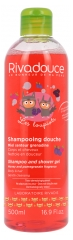 Rivadouce Les Loupiots Shampoo and Shower Gel Honey and Pomegranate Fragrance 500ml