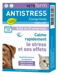 Vetoform Antistress Dog and Cat Tablets 20 Tablets