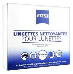 Zeiss Cleaning Wipes for Glasses 30 Wipes