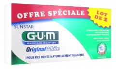 GUM Original White Dentifrice Lot de 2 x 75 ml