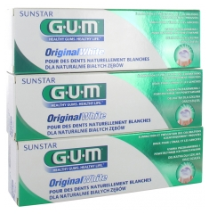 GUM Original White Toothpaste 3 x 75ml