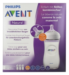Avent Natural Bottle 330 ml 6 Months + Batch of 3