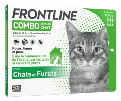 Frontline Combo Spot-On Chats et Furets 6 Pipettes