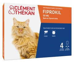 Clément Thékan Fiprokil 50 mg Chat 4 Pipettes