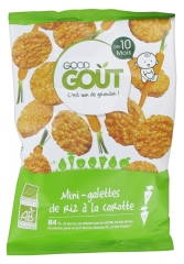 Good Goût Organic Mini Carrot Rice Cakes From 10 Months 40 g
