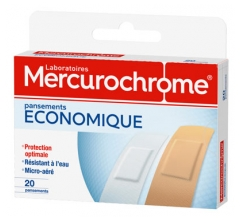 Mercurochrome Pansements Economique 20 Pansements