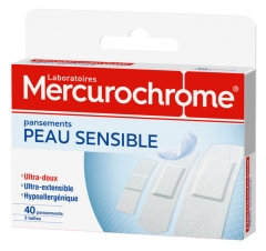 Mercurochrome Peau Sensible 40 Pansements