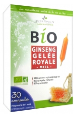 Les 3 Chênes Organic Ginseng Royal Jelly 30 Phials