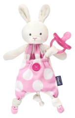 Chicco Pocket Friend Doudou Attache-Sucette 0 Mois et +