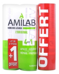 Amilab Lip Care 3 Sticks whose 1 Free