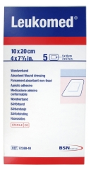BSN medical Leukomed 5 Pansements Absorbants Non-Tissés 10 x 20 cm
