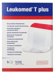 BSN medical Leukomed T Plus 5 Pansements Absorbants Transparents Stériles 8 x 10 cm