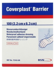 BSN Medical Coverplast Barriere 100 Wasserdichte Klebeverbände 2,2 cm x 6,3 cm