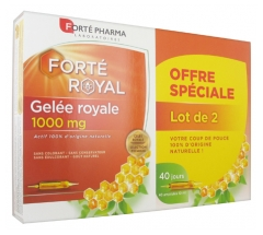 Forté Pharma Gelée Royale 1000 mg Lot de 2 x 20 Ampoules