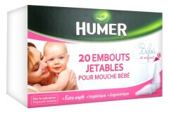 Humer 20 Disposable Ends for Baby Nose Blower