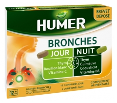 Humer Bronchial Tubes Day and Night 15 Tablets