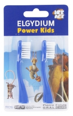 Elgydium Power Kids 2 Têtes pour Brosse à Dents Electrique Power Kids