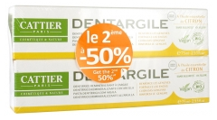 Cattier Dentargile Dentifrice Gencives Irritées Bio Lot de 2 x 75 ml