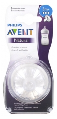 Avent Natural 2 Teats Medium Flow 3 Months +
