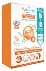 Puressentiel Joints and Muscles Heating Patches with 14 Essential Oils 3 x 3 Patches Special Offer