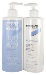 Noreva Aquareva 24H Moisturizing Body Cream 2 x 400ml
