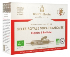 Ballot-Flurin Organic Boosted Preparation 100% French Royal Jelly 10 Phials