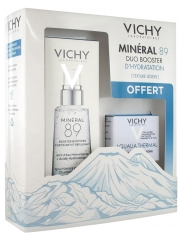 Vichy Minéral 89 Fortifying and Replumping Daily Booster 50ml + Aqualia Thermal Light Cream 15ml Free