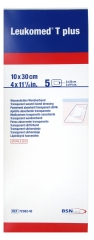 BSN Medical Leukomed T Plus 5 Transparente Sterile Absorbierende Verbände 10 x 30 cm
