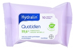 Hydralin Quotidien Lingettes Intimes 10 Lingettes