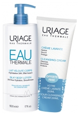 Uriage Silky Body Lotion 500ml + Cleansing Cream 200ml Free