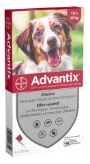 Bayer Advantix Medium Dogs 10-25 kg 4 Pipettes