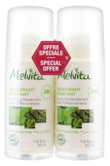 Melvita Déodorant Purifiant Bio Lot de 2 x 50 ml