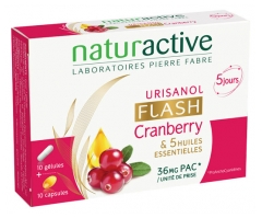 Naturactive Urisanol Cranberry Flash 10 Capsules + 10 Gel-Caps