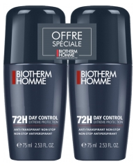 Biotherm Homme Day Control Extreme Protection Anti-Transpirant Non-Stop 72H Roll-On Lot de 2 x 75 ml