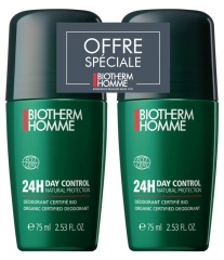 Biotherm Homme Day Control Natural Protect 24H Roll-On Lote de 2 x 75 ml
