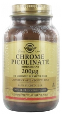 Solgar Chromium Picolinate 200µg 90 Vegetable Capsules