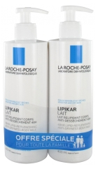 La Roche-Posay Lipikar Lait Relipidant Corps Anti-Dessèchement 48H Lot de 2 x 400 ml